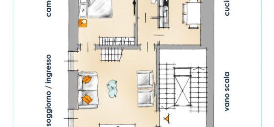 pianta appartamento per portali
